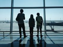 El esperar del aeropuerto Imagenes de archivo