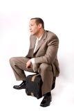 El esperar del hombre de negocios Imagen de archivo