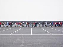 El esperar en línea Imagen de archivo
