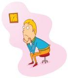 El esperar en silla ilustración del vector