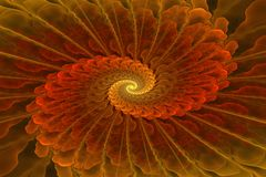 El espiral multicolor del fractal, en mi cartera es imágenes mucho similares Foto de archivo