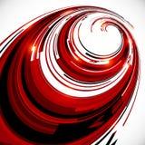 El espiral rojo y negro abstracto circunda el fondo Fotos de archivo libres de regalías
