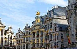 El esplendor de Grand Place Imagen de archivo