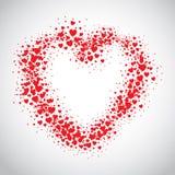 El espray rojo del corazón pintado con la dispersión oye stock de ilustración
