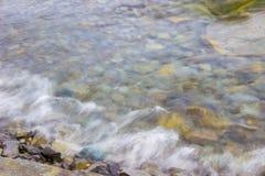 El espray soplado de ondas Foto de archivo libre de regalías