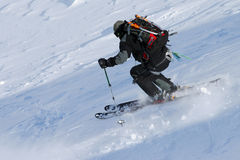 El esquí libera el montar a caballo Imagen de archivo libre de regalías