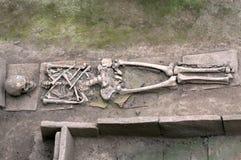 El esqueleto de un romano fotografía de archivo libre de regalías