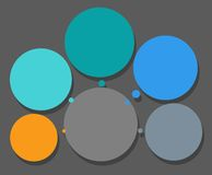 El esquema, cinco sectores, marco para el texto, infographics Imágenes de archivo libres de regalías