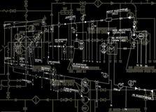El esquema de la ingeniería Fotos de archivo libres de regalías