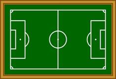 El esquema del campo de fútbol. Imagenes de archivo