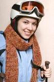 El esquiador alegre. Imagenes de archivo