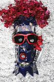 El esquiador loco en amor Imagen de archivo libre de regalías