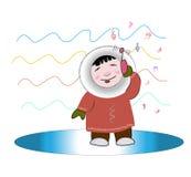 El esquimal ama música Imagen de archivo libre de regalías