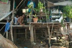 El establecimiento de pescadores en Tailandia Fotografía de archivo libre de regalías