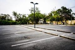 El estacionamiento del coche Foto de archivo