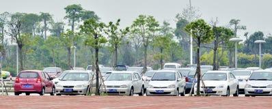 El estacionar de los coches Fotos de archivo