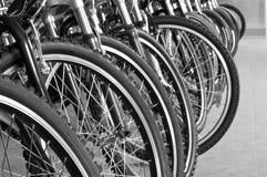 El estacionar para las bicicletas Imagen de archivo libre de regalías