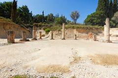 El estadio antiguo en Nemea, Grecia Foto de archivo libre de regalías