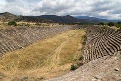 El estadio antiguo más grande de Afrodisias, ciudad del amor, Aphrodite, ruinas de Turquía fotografía de archivo libre de regalías