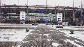 El estadio de fútbol del HSV en Hamburgo, Alemania imágenes de archivo libres de regalías