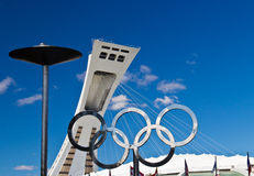 El estadio Olímpico en Monreal, Canadá Hogar del verano 1976 Imágenes de archivo libres de regalías