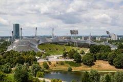 El estadio Olímpico Munich Imágenes de archivo libres de regalías