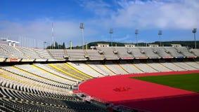 El estadio Olímpico Lluis Companys en Barcelona, España Foto de archivo