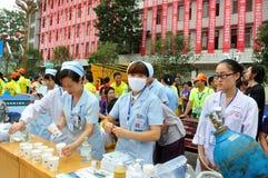 El estado de trabajo del personal médico Imágenes de archivo libres de regalías