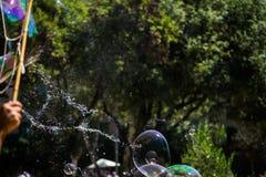El estallar de la burbuja Foto de archivo libre de regalías