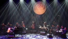 El estallido Zade Dirani del piano se realiza en Bahrein, 2/10/12 Fotos de archivo libres de regalías
