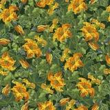 El estampado de flores, textura inconsútil florece en estilo del vintage Imagenes de archivo