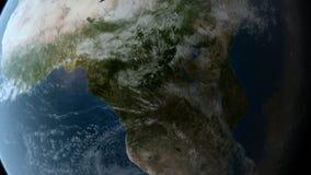 El estar en órbita sobre África stock de ilustración