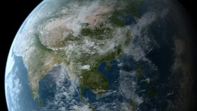 El estar en órbita sobre Asia libre illustration