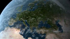 El estar en órbita sobre Europa stock de ilustración