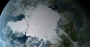 El estar en órbita sobre Polo Norte 4K libre illustration