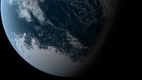 El estar en órbita sobre South Pole stock de ilustración