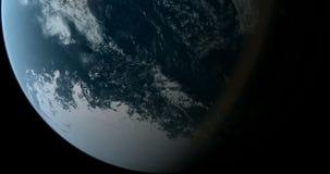El estar en órbita sobre South Pole 4K ilustración del vector