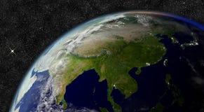 El Este de Asia del espacio Fotos de archivo libres de regalías