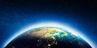 El Este de Asia del espacio ilustración del vector