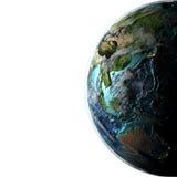 El Este de Asia y Australia en la tierra del planeta Fotos de archivo libres de regalías