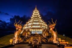 El estilo chino de la pagoda en la provincia de Chiangrai de Tailandia Foto de archivo