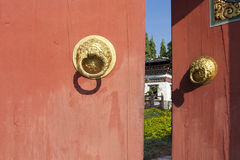 El estilo de Bhután de la puerta Fotografía de archivo libre de regalías