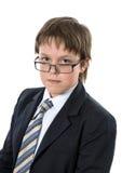 Adolescente que muestra importancia Imagenes de archivo