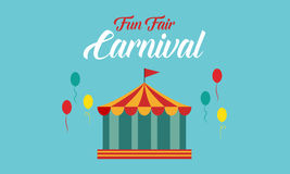 El estilo del fondo del funfair del carnaval stock de ilustración