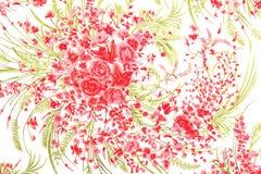 El estilo del vintage de la tapicería florece el fondo del modelo de la tela Fotos de archivo libres de regalías