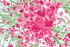 El estilo del vintage de la tapicería florece el fondo del modelo de la tela Imágenes de archivo libres de regalías