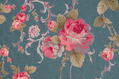 El estilo del vintage de la tapicería florece el fondo del modelo de la tela Fotografía de archivo