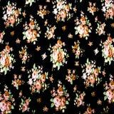 El estilo del vintage de la tapicería florece el fondo del modelo de la tela Foto de archivo