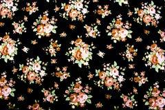 El estilo del vintage de la tapicería florece el fondo del modelo de la tela Imagen de archivo