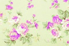 El estilo del vintage de la tapicería florece el modelo de la tela Fotos de archivo libres de regalías